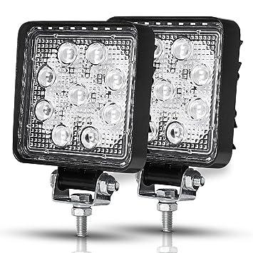 Racbox LED ligero barra de luces LED work light bar de trabajo 27W 12V 24V focos ...