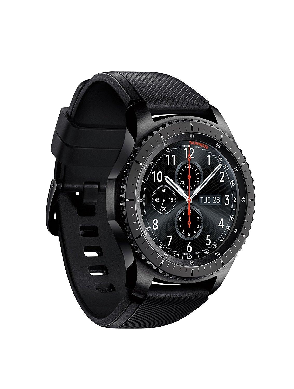 SAMSUNG GEAR S3 FRONTIER Smartwatch 46MM - Dark Gray (Renewed) by Samsung