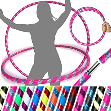 640g - Yellow // Pink // Silver Glitter Fastening Strap Dance /& Fitness! 100cm//39 Weighted TRAVEL Hula Hoop - Hula Hoops For Exercise Ultra-Grip//Glitter Deco PRO Hula Hoops 3-COLOUR