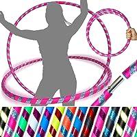 PRO Hula Hoops (Ultra-Grip/Glitter Deco) Gewogen REIS Hula Hoop (100cm/39') Hula Hoops Voor Oefening, Dance & Fitness…