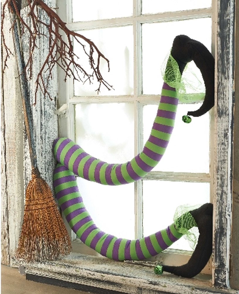 Amazon.com: Mud Pie Halloween Witchu0027s Legs Fun Holiday Decor: Home U0026 Kitchen