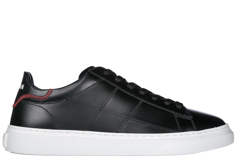 Hogan Herrenschuhe Herren Leder Schuhe Sneakers h365 Schwarz  42.5 EU
