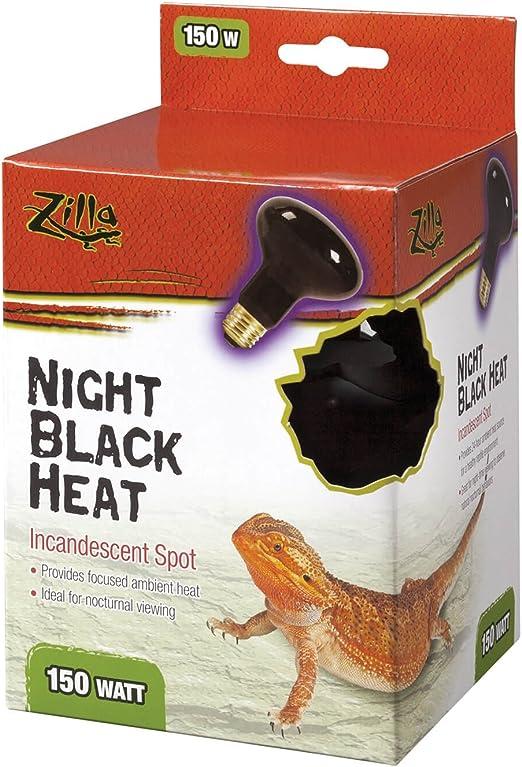 Zilla Night Time Black Light Incandescent Heat Bulb 150 Watts Pack of 6