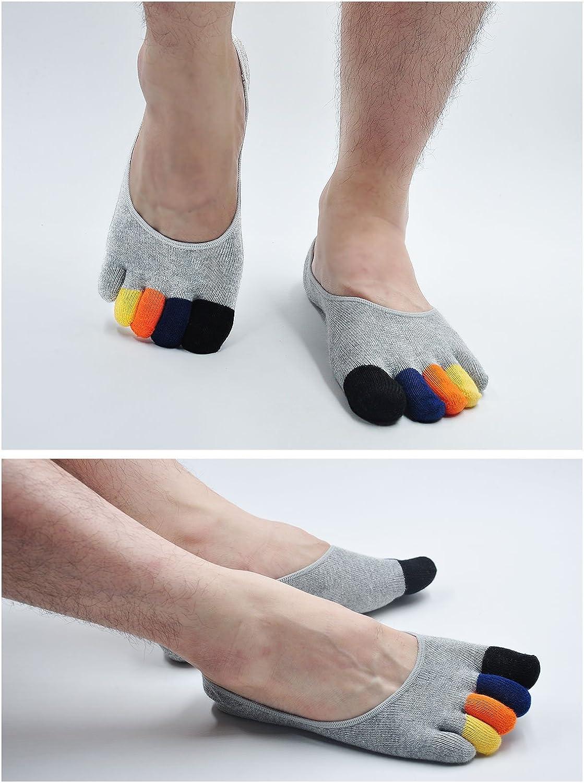 M/änner F/ünf Finger Socken f/ür Sport und Freizeit 4//5//6 Paare Kurze Zehensocken Herren unsichtbare Sneakersocken aus Baumwolle