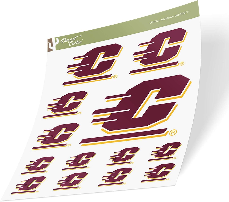 Central Michigan University CMU Chippewas NCAA Sticker Vinyl Decal Laptop Water Bottle Car Scrapbook (Sheet Type 3-1)