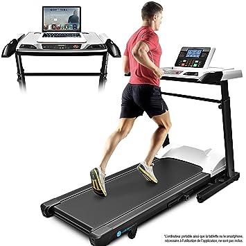 deskfit - cinta de correr con escritorio DFT500, con ruedas y mesa ...