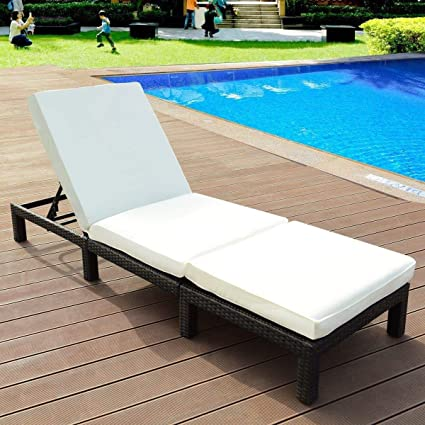 Magnificent Amazon Com Colorful Patio4U Adjustable Patio Pool Wicker Caraccident5 Cool Chair Designs And Ideas Caraccident5Info