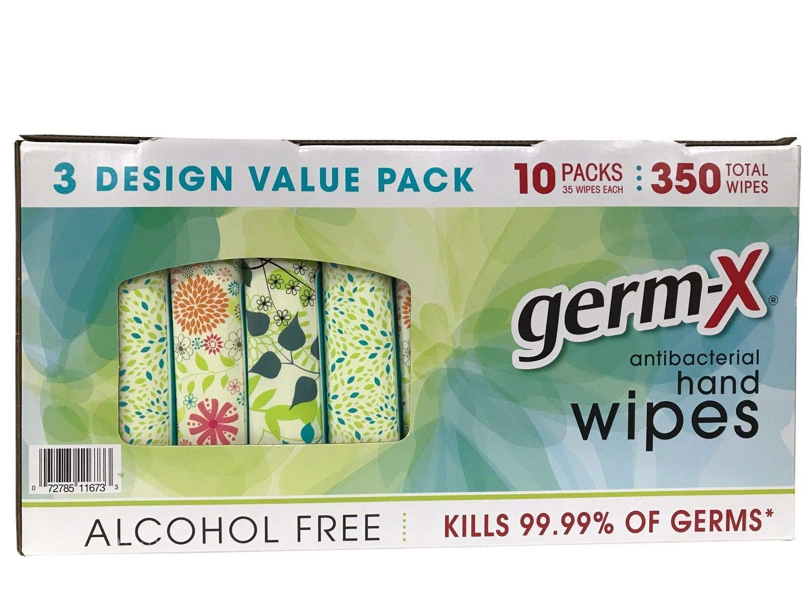 Germ-X Antibacterial Hand Wipes Designer Pack (350 Wipes) by Germ-X (Image #1)