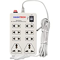 Hashtech Extension Board;6 Amp 8 Universal Multi Plug Point Extension Cord with Led Indicator and On/Off Switch (2.5 Meter)