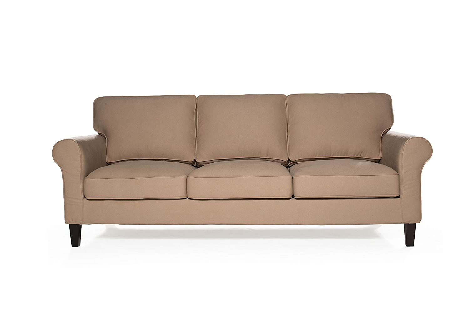 Amazon.com: Sofas 2 Go S2G Walton Khaki Sofa, One Size ...
