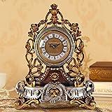 WW Tischuhr Europäischen Stil Uhr Kreative Ruhe Uhr Persönlichkeit Sitzen Uhr Wohnzimmer Große Schaukel Uhr Quarzuhr Dekorative Tischuhr
