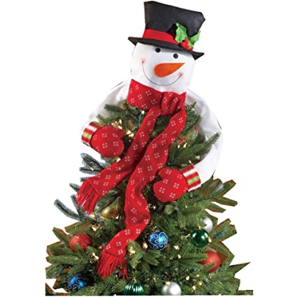 odosan christmas tree topper snowman treetop with bendable arms s