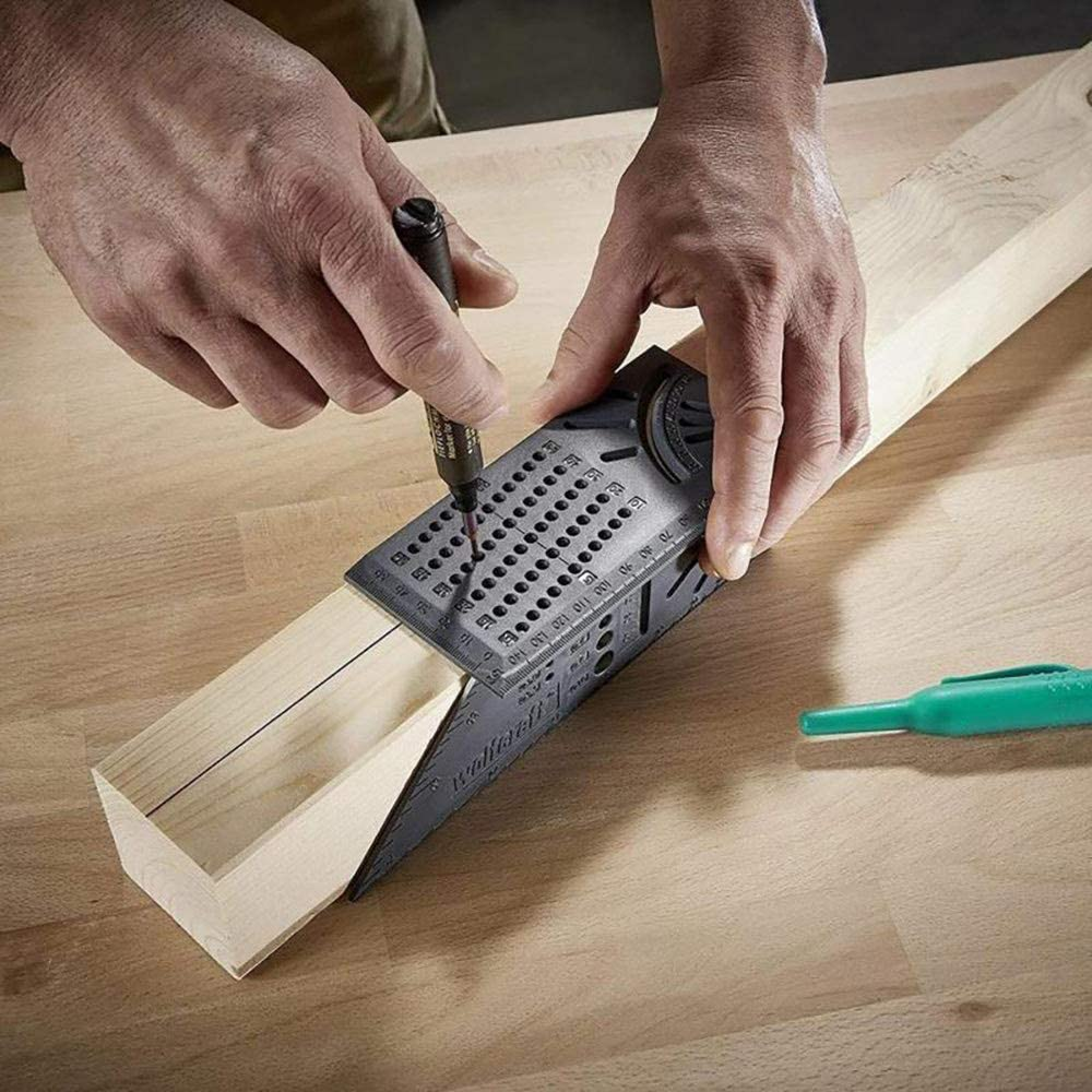 ShangSky 3D Gehrungswinkel Holzbearbeitung Scriber Lineal Woodcraft Scriber T-Typ Multifunktionale 90 Grad Lineal Winkel Hochpr/äzises Messwerkzeug F/ür Tischler Handwerker