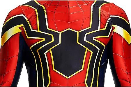 Desconocido Disfraz para Disfraz de Spiderman Superhéroe para Niños, Color Negro y Rojo