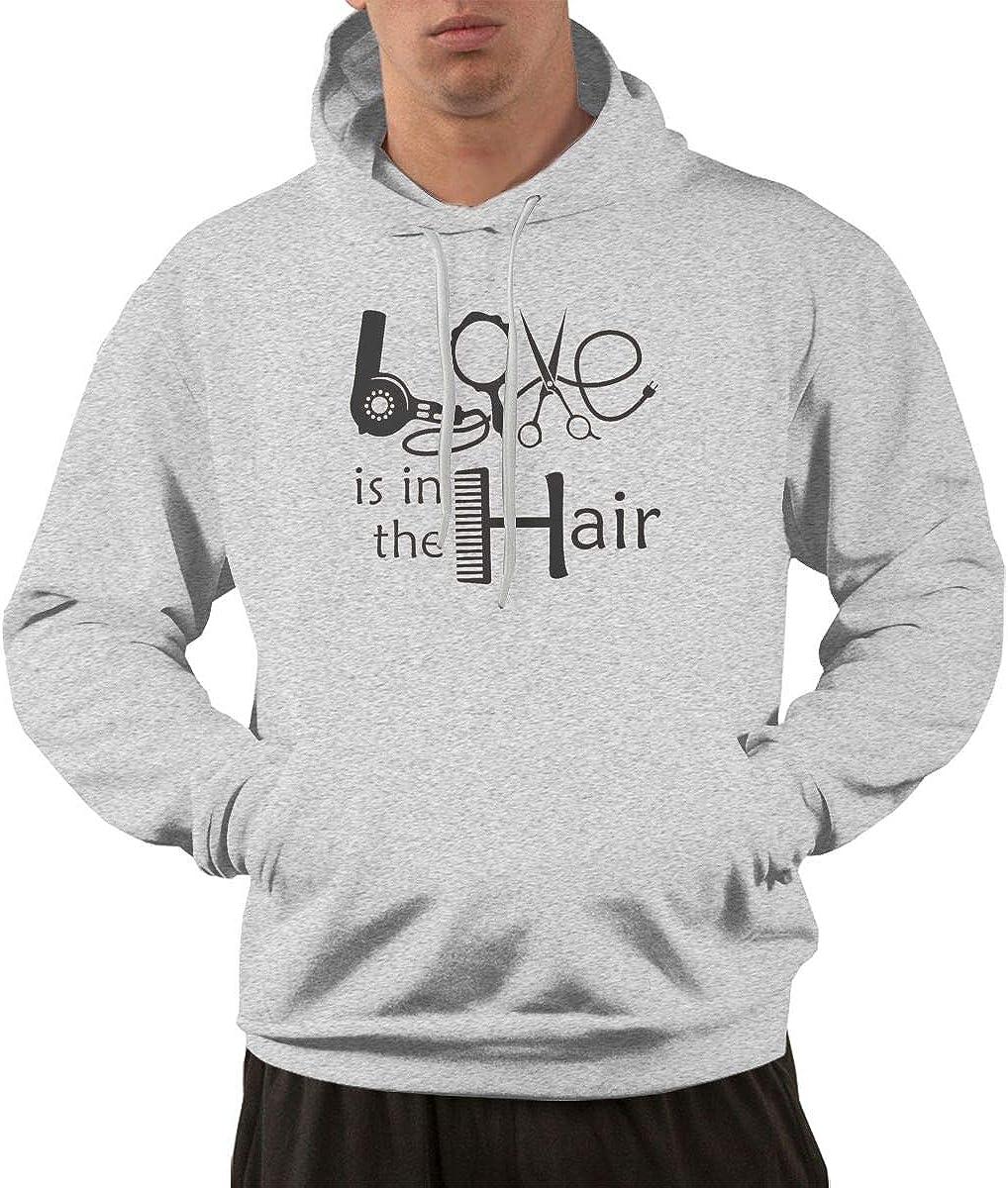 Salon Hairdresser Love Pullover Hoodie Sweatshirt Mens Casual Workout Jacket Pullover S-3XL