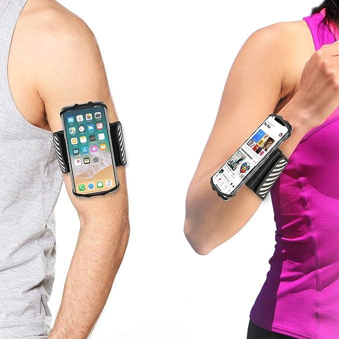 TFY - Brazalete deportivo y soporte de teléfono para iPhone de 4,5 ...