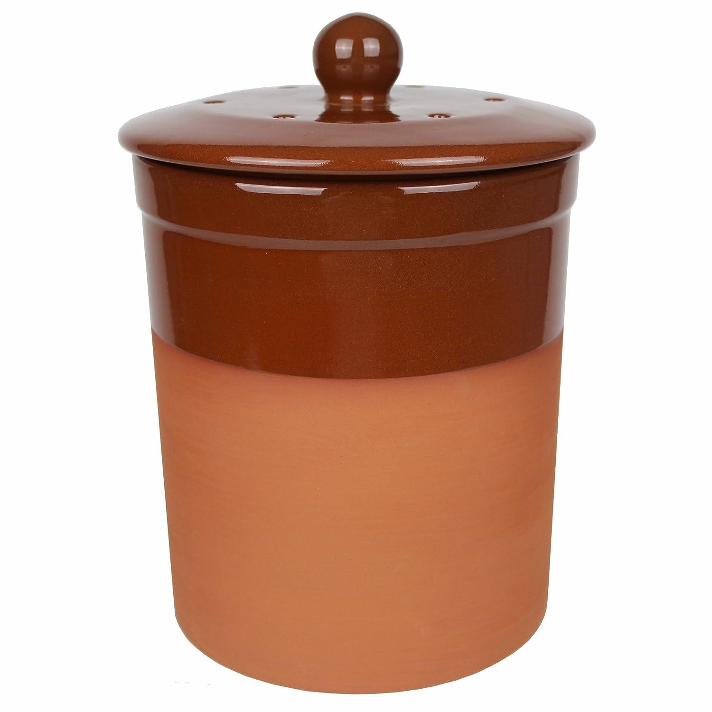 Terracotta Keramik Küche Kompost Caddy (Schokolade Braun Farbe ...