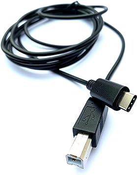 MainCore Cable USB C de 2 m compatible con teclados, decks DJ, Midi, reproductor de CD DJ, mezclador, tocadiscos, piano eléctrico, sintetizador, ...