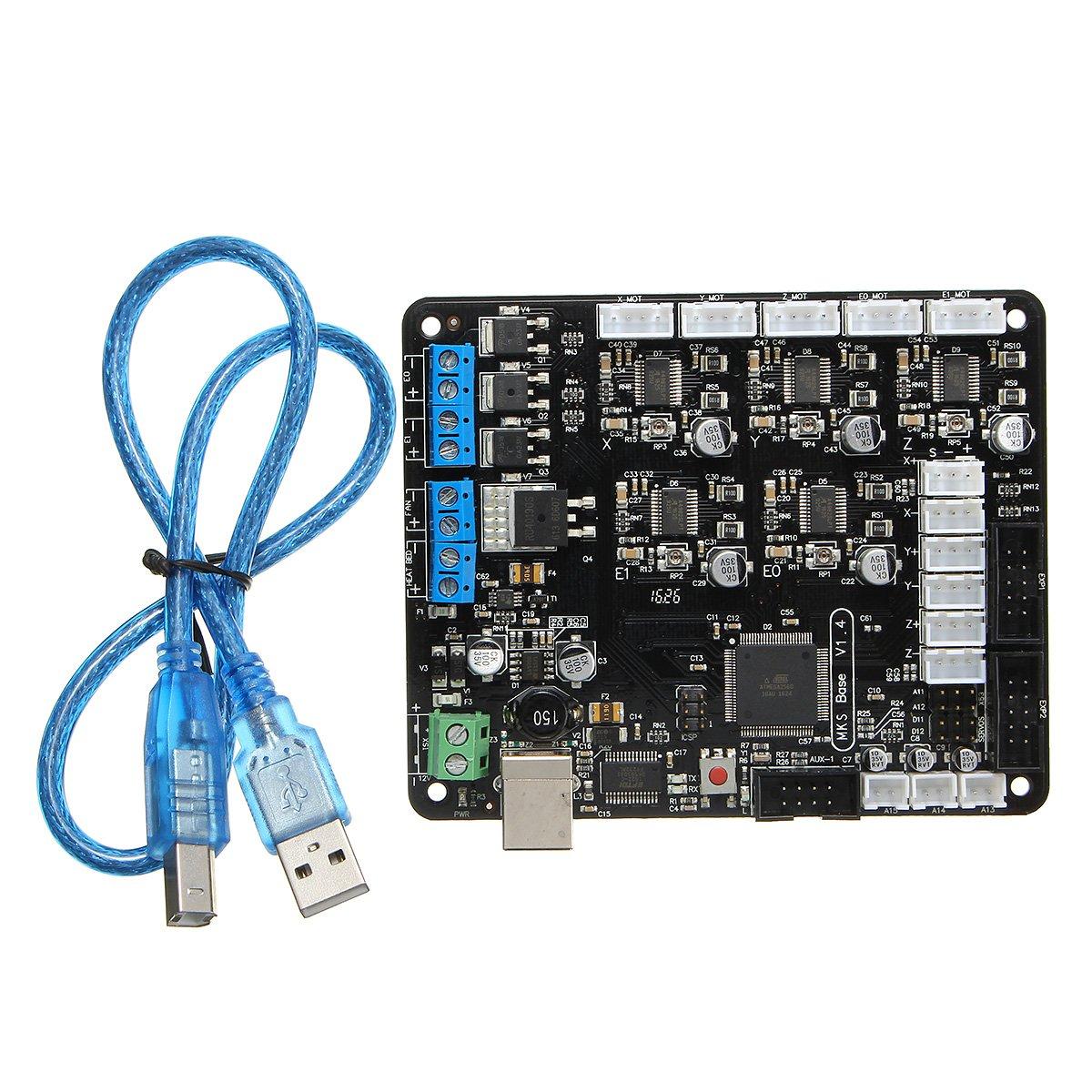 MKS-Base V1.4 - Placa base para impresora 3D (1,4 + Mega 2560 + ...