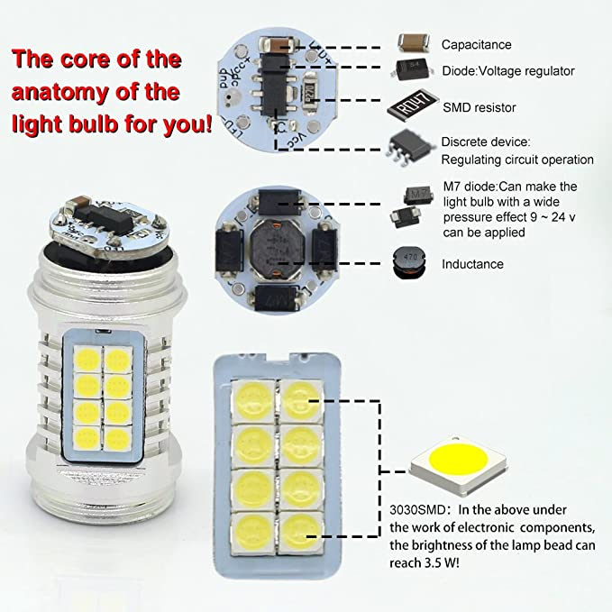 Amazon.com: T20 W21/5W 7443 Newest Version 120W Car LED Brake Light ...