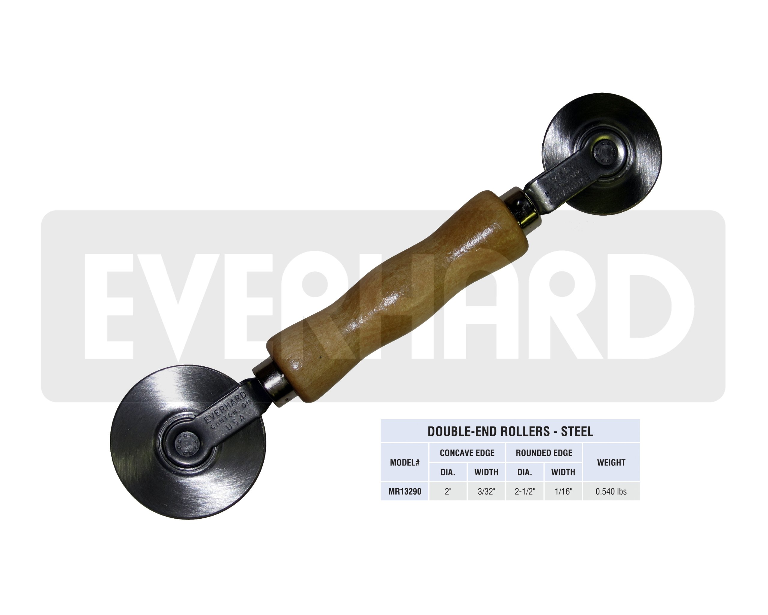MR13290 Everhard Steel Double-end Screen Roller, Concave/Convex