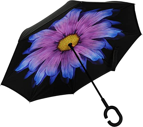Reverse Folding Inverted Umbrella Double Layer Wind Proof UV Proof