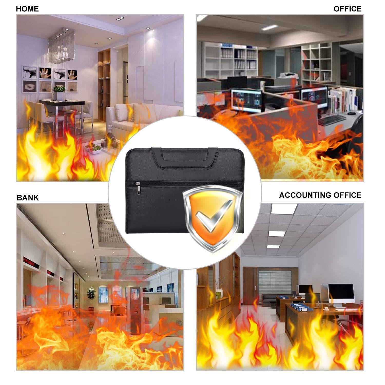 Konferenzmappe A4 Aktenmappe Padfolio Schreibunterlage Business Travel Dokumentenhalter Ziped Personal Document Organizer Feuerschutztasche mit Tragegriff ENGPOW