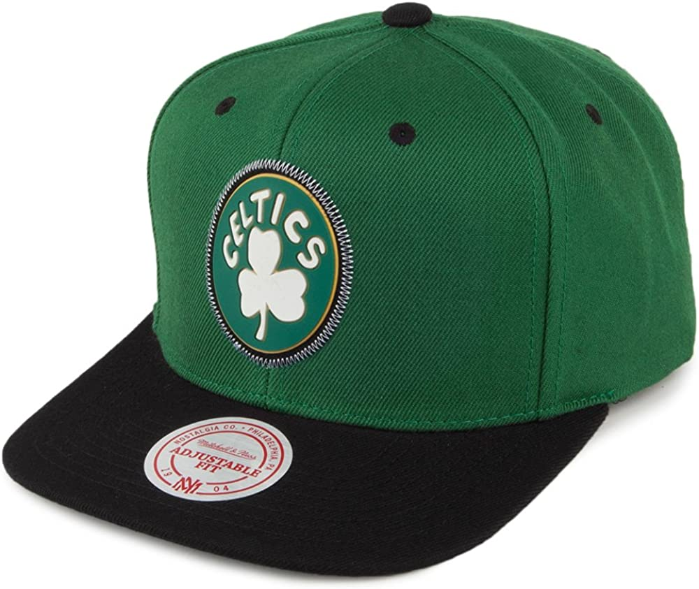 Mitchell & Ness Gorra Boston Celtics Verde-Negro - Ajustable ...