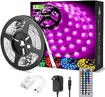 LE LED Strip Lights Kit, 16.4ft RGB LED Light Strips, Color Changing Light Strip with Remote Control, 12V Power Supply...