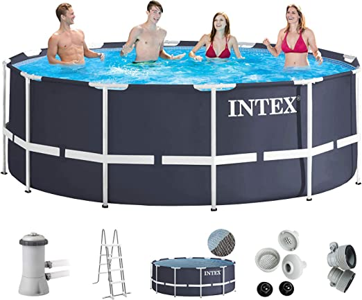 Intex 366 x 122 Juego completo con Intex cartucho Eco 28638 GS ...