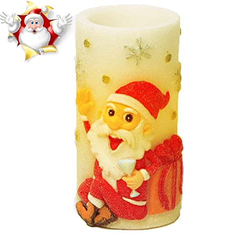 flameless candles christmas candle lights with timer battery operated candles for christmas decorations by cranach - Christmas Decorations Battery Operated Candles