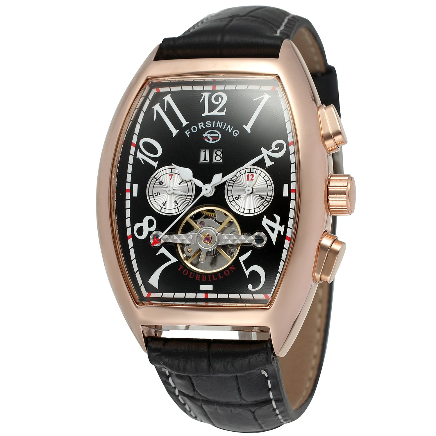 Forsining Men's Automatic Self-winding Tourbillon Calendar Brand Learher Strap Collectiton Watch FSG9409M3R5 by FORSINING (Image #1)