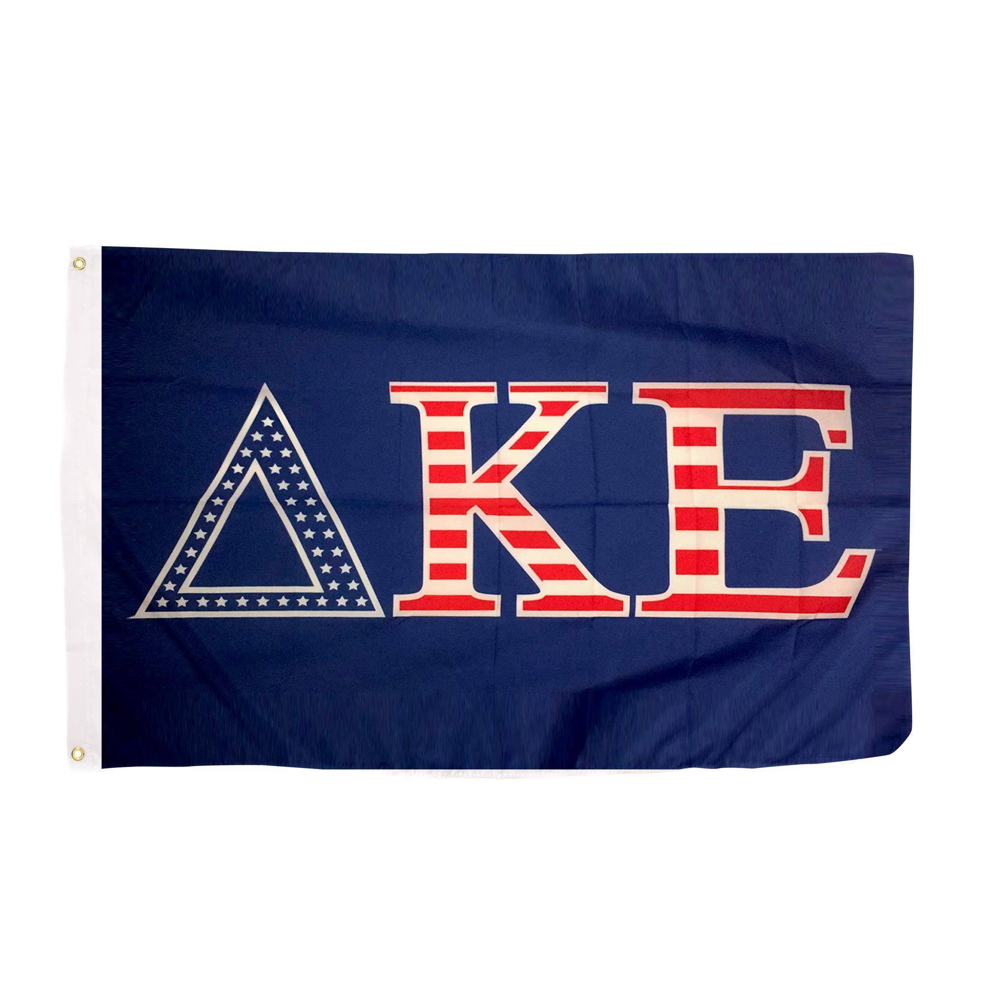 Delta Kappa Epsilon USA Letter Fraternity Flag Greek Letter Use as a Banner 3 x 5 Feet Sign Decor DKE by Desert Cactus