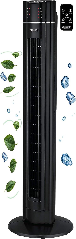luci LED 3 modalit/à timer da 7 ore ventilatore a colonna 3 livelli ventilatore a torre telecomando Ventilatore a torre da 60 Watt