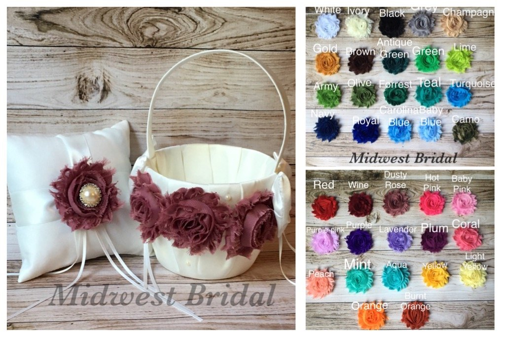 Custom Flower Girl Baskets   YOUR Colors