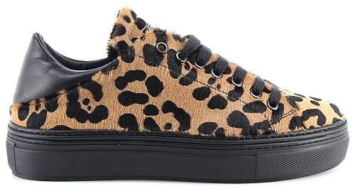 Scarpe Donna Sneakers PINKO 1H20CJ Dobbiaco 1 CZE Beige Nero Cavallino Nuove 9f5f9ddf22f