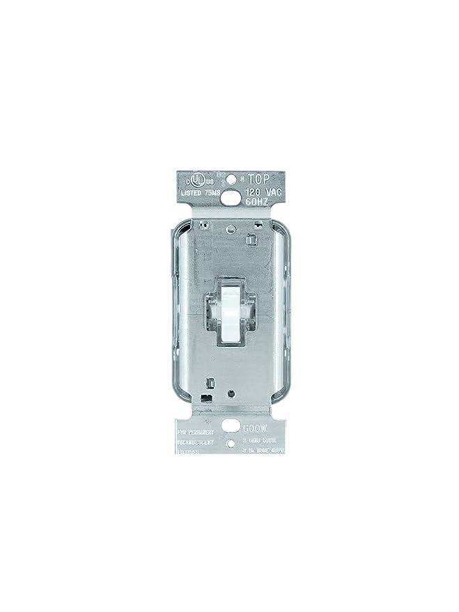 Legrand - Pass & Seymour T603LWV Toggle Dimmer 600-watt Three Way ...