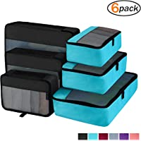 Packing Cubes Organizer Bags For Travel Accessories Packing Cube Compression 6 Set For Luggage Suitcase (2 Color)