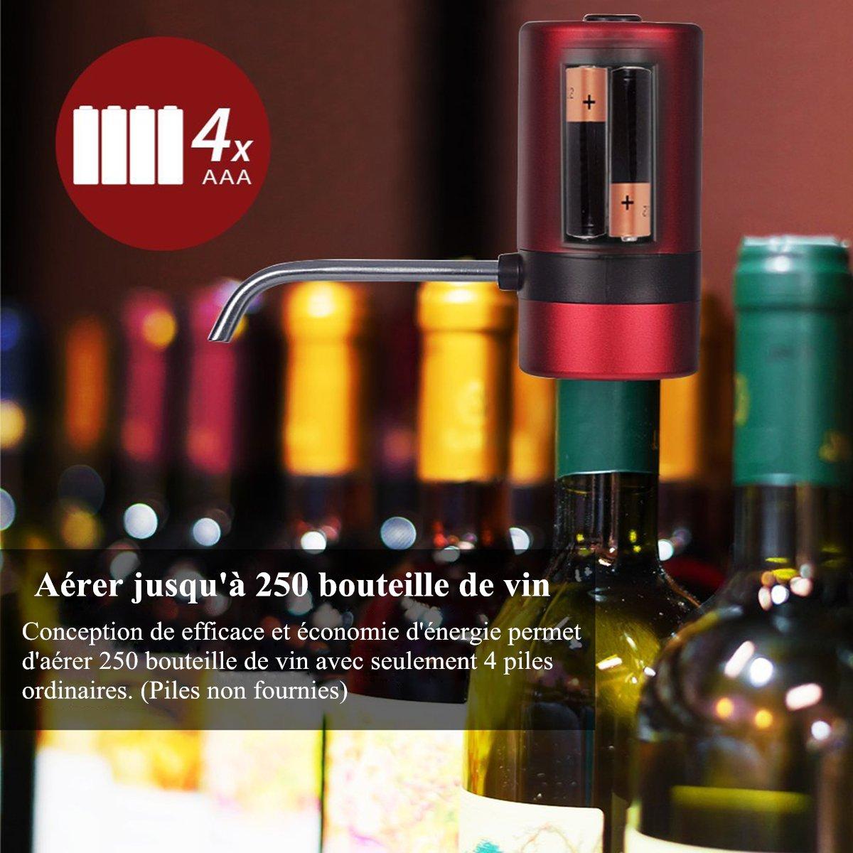 Waerator Instant-Weindekanter mit 1 Knopf Geschenkidee f/ür Weinkenner elektrisch Wein-Bel/üfter automatischer Weindekanter