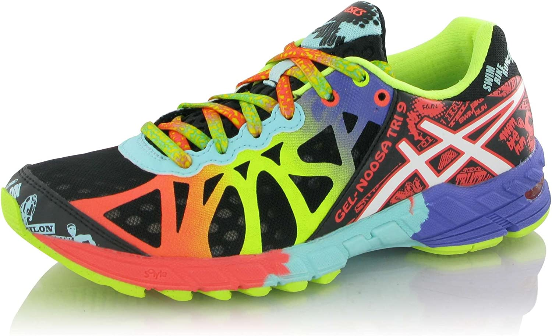 ASICS - Zapatillas de Running para Hombre Negro y Rosa Negro y Rosa Talla:11.5 US - 44.0 EU: Amazon.es: Zapatos y complementos