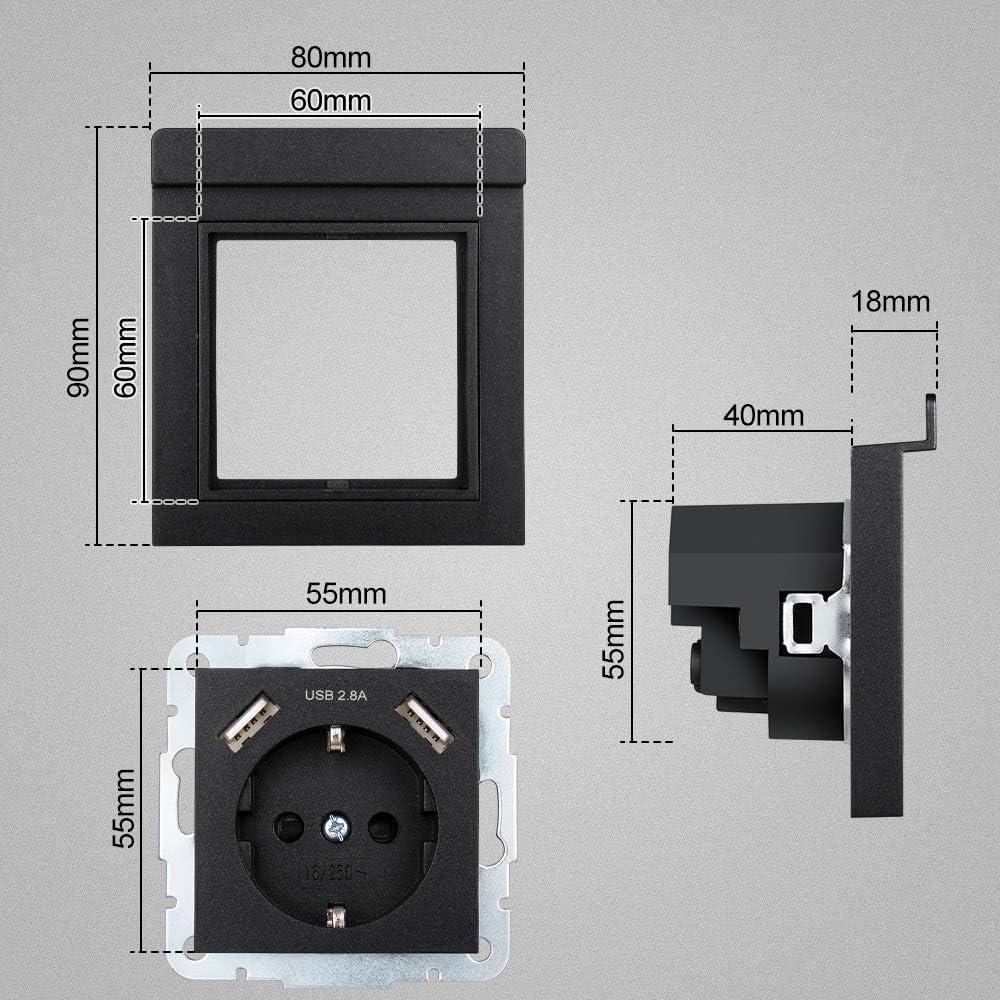 USB Enchufe con Soporte para Teléfono Móvil