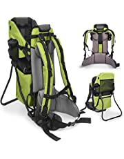 Besrey Hiking Backpack for Toddler and Child Outdoor Baby Back Carrier +Bonus Stool (Green)