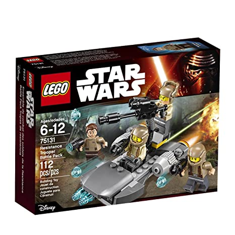 Amazoncom Lego Star Wars Resistance Trooper Battle Pack 75131