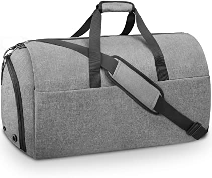 2 in 1 Convertible Garment Suit Travel Gym Bag Carry On Duffle Bag Luggage Large