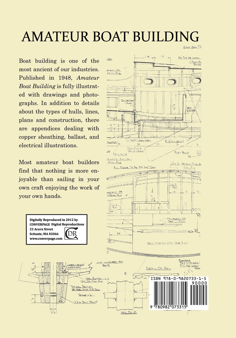 Amateur Boat Building Michael P Verney 9780982073315 Types Of Electrical Plans Books