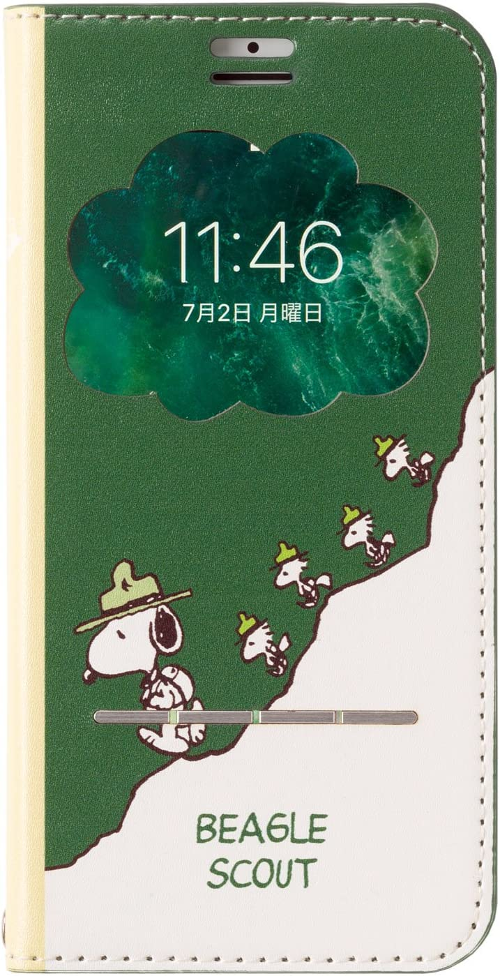 Amazon Peanuts スヌーピー Iphone Se2 8 7 6s 6 ケース 手帳型 窓
