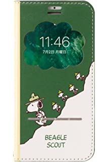 d3877a9969 PEANUTS スヌーピー iPhone8/7/6s/6 ケース 手帳型 窓付き [ビーグル