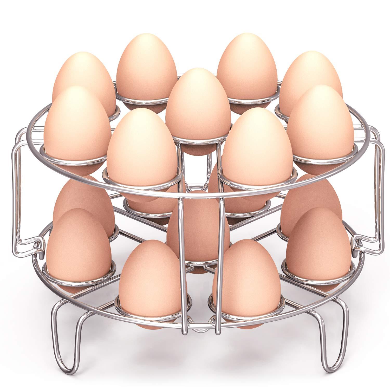 Packism Egg Steamer Rack, Steaming Rack for Instant Pot Accessories Fits Instant Pot 6, 8 Qt Stainless Steal Kitchen Trivet Basket Stackable Vegetable Steaming Holder Pressure Cooker Accessories
