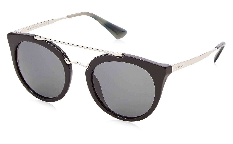 742098d97e4 Prada Cinema Double Bridge Sunglasses in Black PR 23SS 1AB1A1 52 52 Grey   Prada  Amazon.ca  Clothing   Accessories