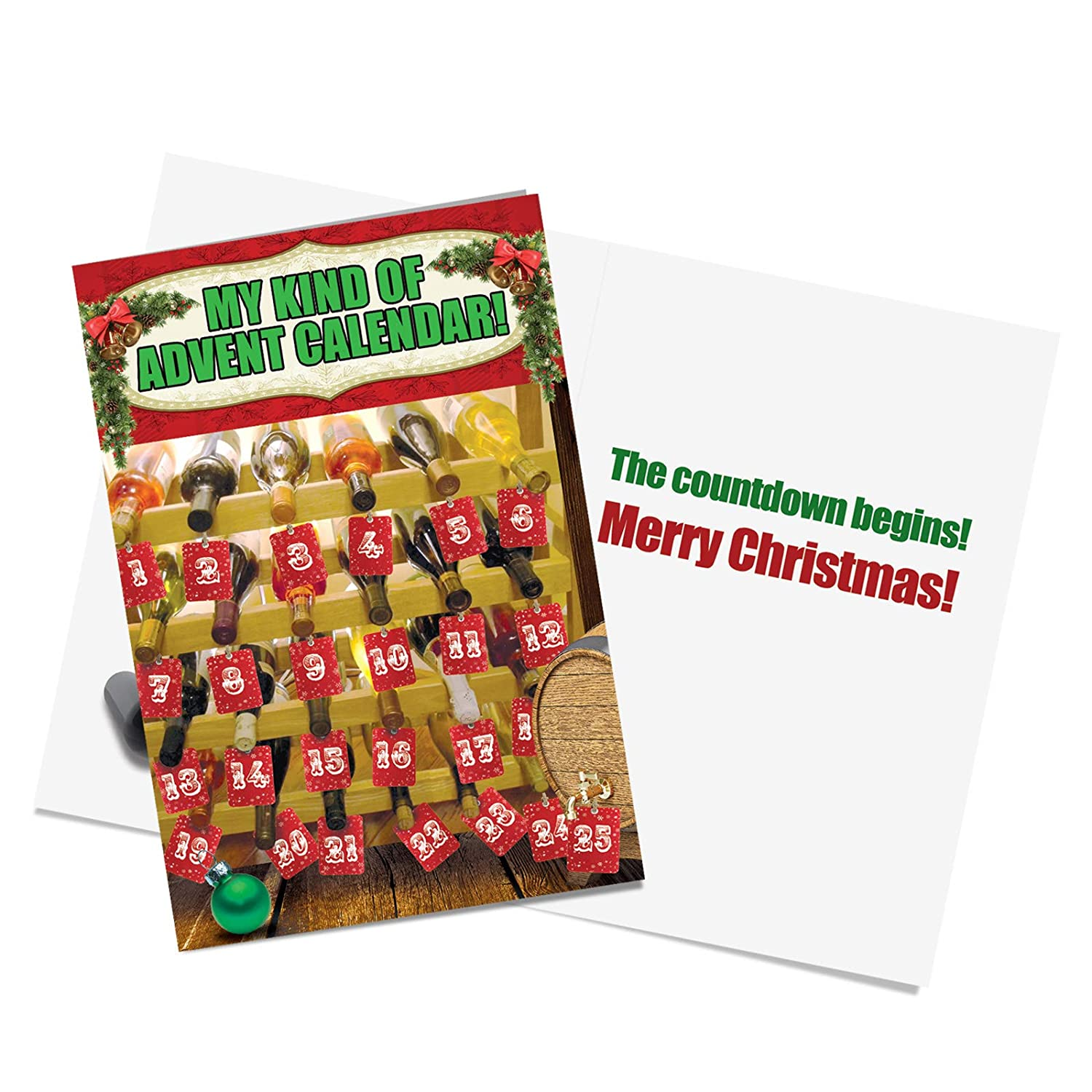Amazon.com : Humor Christmas Cards with 5 x 7 Envelopes - Funny ...